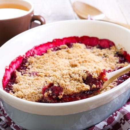 Crumble aux fruit rouge
